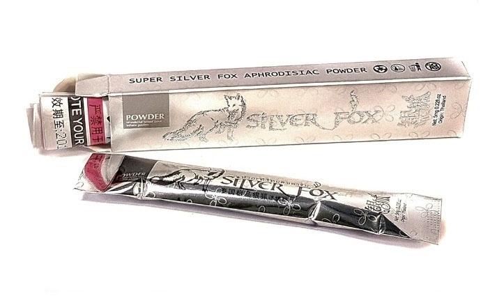 ''Silver Fox'' возбуждающий порошок для женщин, в одной упаковке 12 пакетиков по 5 мг - 7