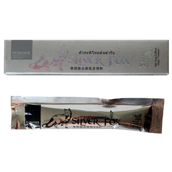 ''Silver Fox'' возбуждающий порошок для женщин, в одной упаковке 12 пакетиков по 5 мг - 5
