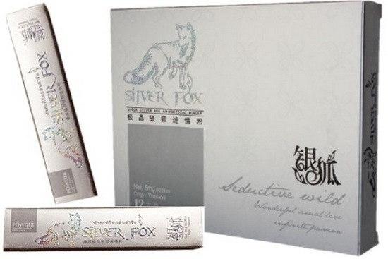 ''Silver Fox'' возбуждающий порошок для женщин, в одной упаковке 12 пакетиков по 5 мг - 9